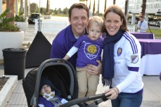 Fans of all ages celebrate the announcement of the new Orlando City SC training facility in Lake Nona on Jan. 29, 2016. (Rosie Reitze / Orlando Soccer Journal).