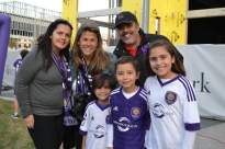 Fans stand by as they await the announcement of the new Orlando City SC training facility in Lake Nona on Jan. 29, 2016. (Rosie Reitze / Orlando Soccer Journal).
