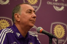 Phil Rawlins addresses the media during Orlando City SC's media day on Friday, February 26, 2016. (Victor Ng / Orlando Soccer Journal)