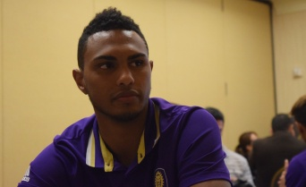 Tommy Redding speaks with the Orlando Soccer Journal during Orlando City SC's media day on Friday, February 26, 2016. (Victor Ng / Orlando Soccer Journal)